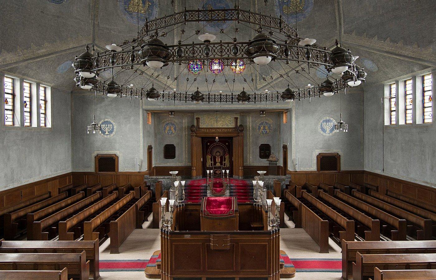 Interieur van synagoge