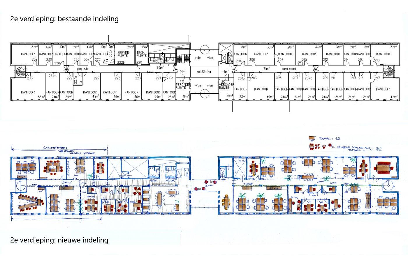 2e verdieping oud en nieuw