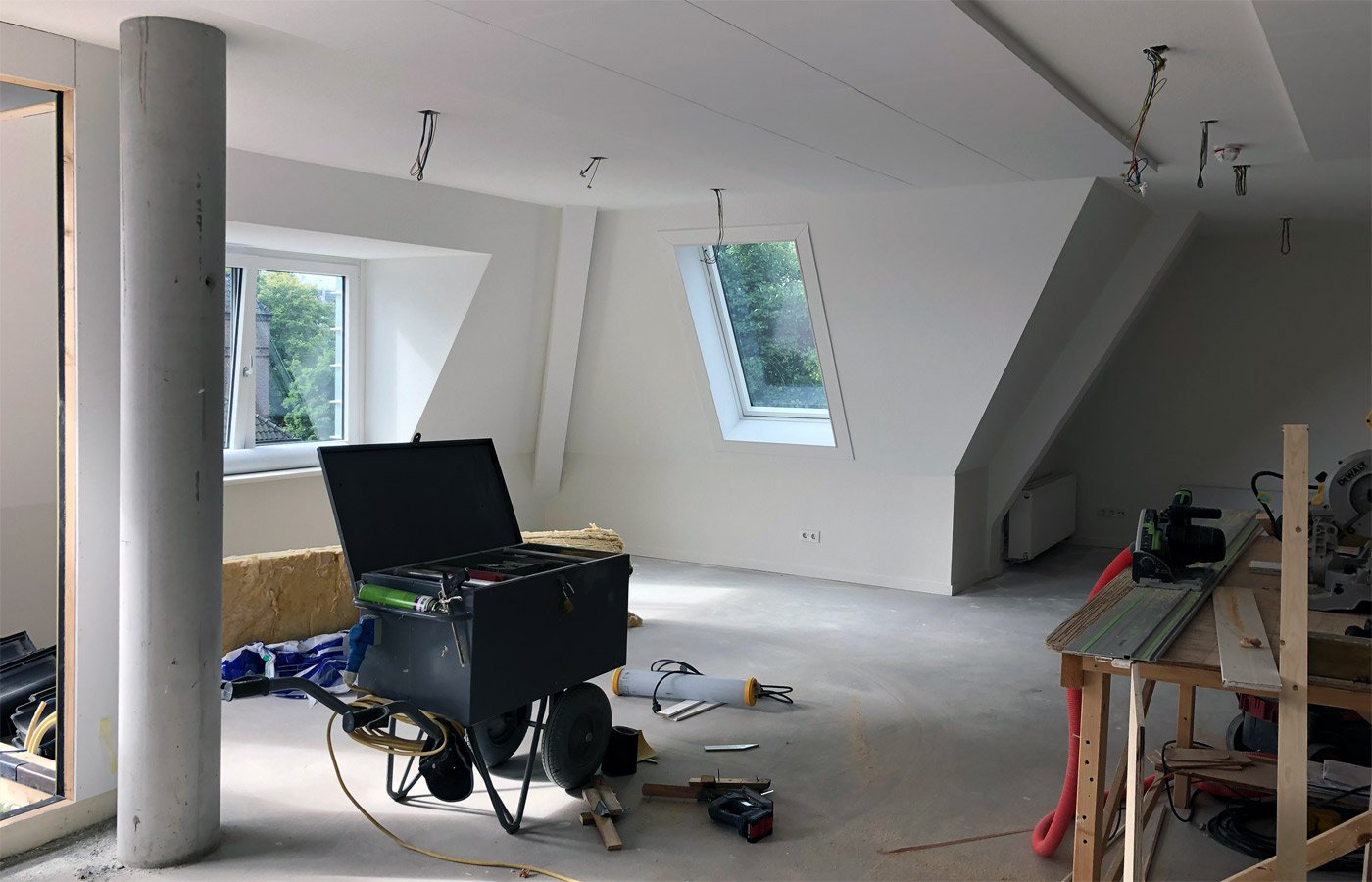 Interieur uitbouw