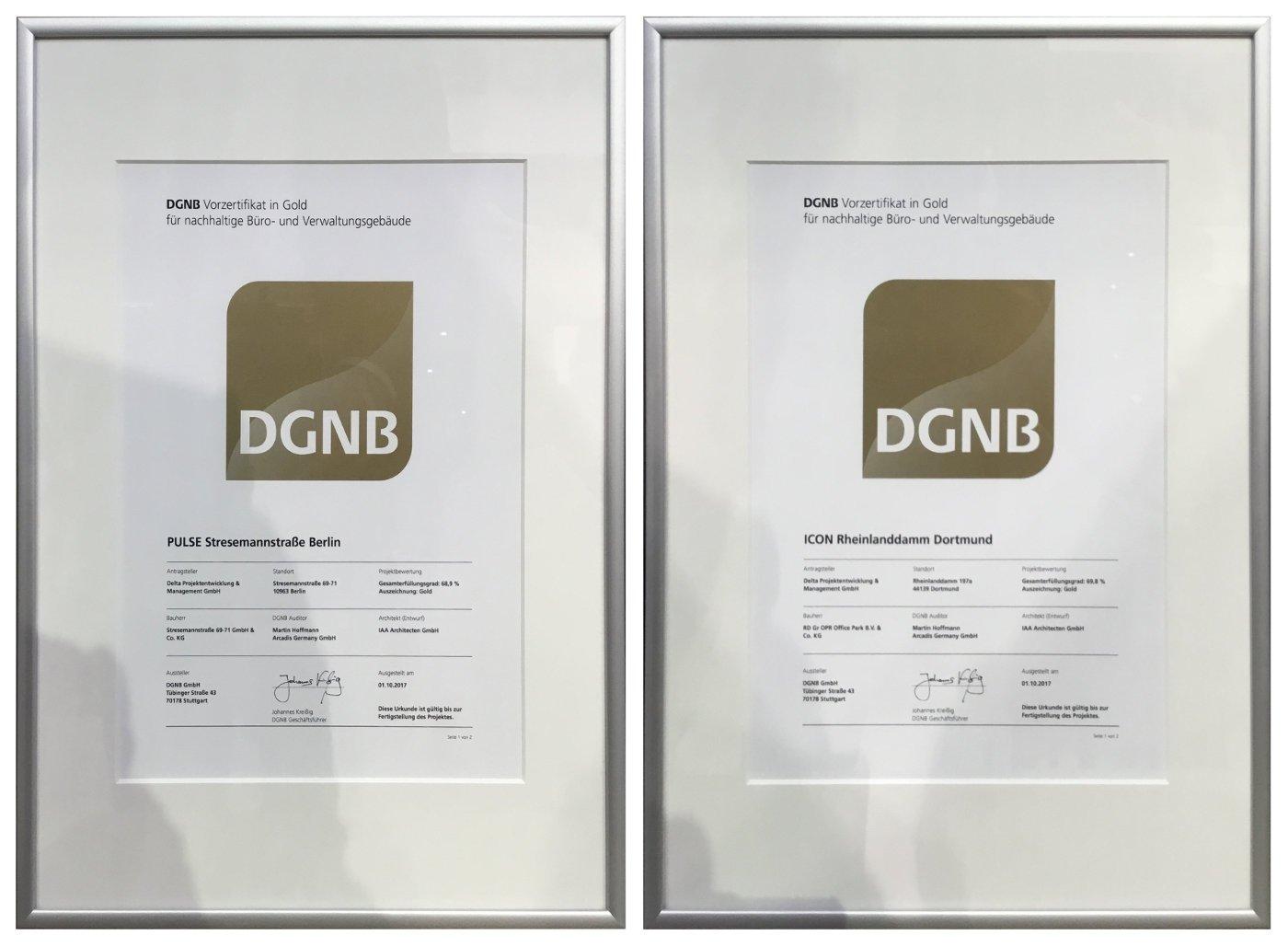 Zwei Zertifikate